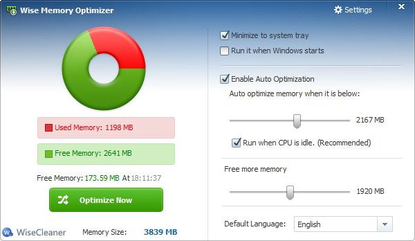 Wise Memory Optimizer 3.11.66 ������ ����� ������� ���� ����� ��������
